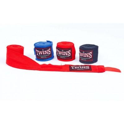 Купить Бинты боксерские (2шт) хлопок с эластаном TWINS BO-5318-3метра