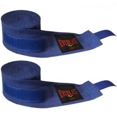 Купить Бинты боксерские (2шт) Х-б EVERLAST BO-3619-4 (l-3м, синие)