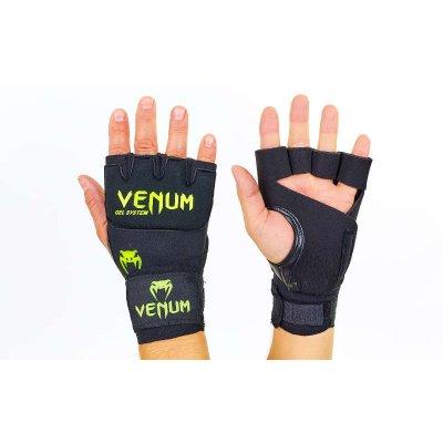 Купить Перчатки с бинтом гелевые из неопрена VENUM VL-5798 чёрные
