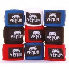 Бинты боксерские хлопок с эластаном VENUM VL-5778, 3.5м