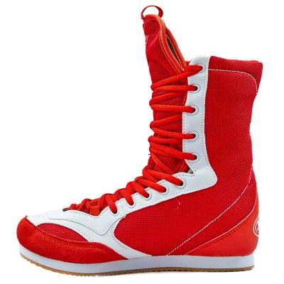 Купить Боксерки замшевые подростковые ELAST GBS-51-R размер 35-39 красный