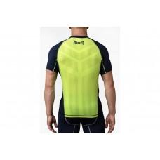 Компрессионная футболка Peresvit Air Motion Compression Short Sleeve T-Shirt Navy Flu Yellow