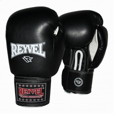 Боксерские перчатки REYVEL винил 10 унций (цвета) синие