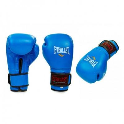 Купить Перчатки боксерские кожаные EVERLAST BO-4748-B синие