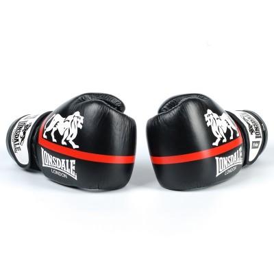 Купить Перчатки боксерские кожаные LONSDALE XPEED VL-8340-BKW чёрно белые