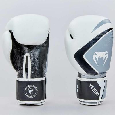 Купить Перчатки боксерские кожаные на липучке VENUM CONTENDER 2.0 VL-8202-W