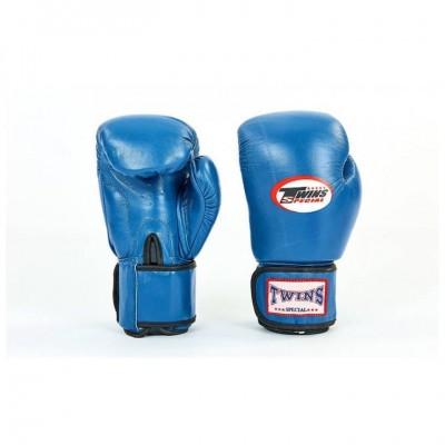 Купить Перчатки боксерские кожаные TWINS VL-6631-B СИНИЕ