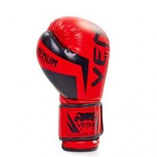 Перчатки боксерские FLEX на липучке VENUM BO-5338-R красные