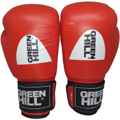 Купить Перчатки боксерские ФБУ GREEN HILL KNOCK красные