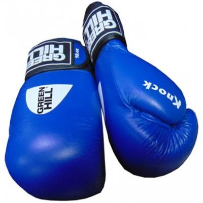 Купить Перчатки боксерские ФБУ GREEN HILL KNOCK синие
