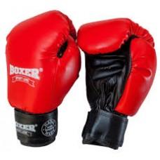 Боксерские перчатки Boxer Profi ФБУ синие, красные