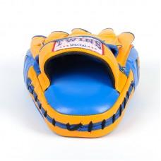 Лапа Изогнутая (2шт) кожаная TWIN VL-8346 синий-желтый