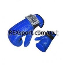Снарядные перчатки (блинчики) Кожа EVERLAST VL-01012 синие