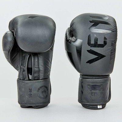 Купить Перчатки боксерские кожаные на липучке VENUM ELITE