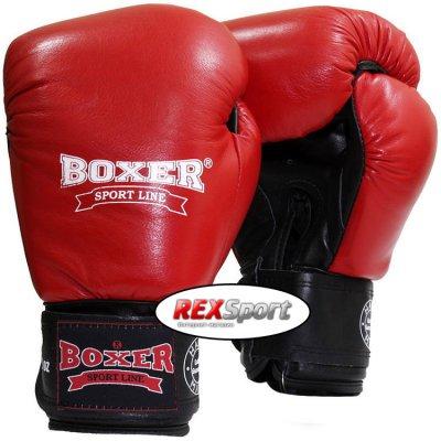 Купить Перчатки боксерские Boxer Элит кожа (красные)