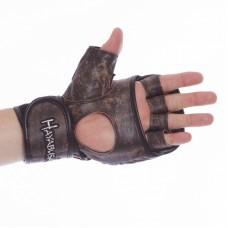 Перчатки гибридные для единоборств ММА кожаные HAYABUSA KANPEKI VL-5780