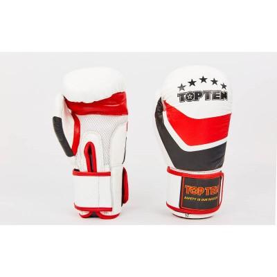 Купить Перчатки боксерские кожаные на липучке TOP TEN MA-6752