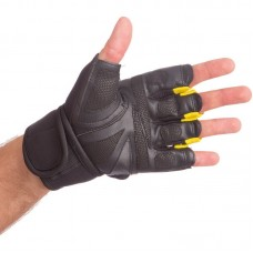 Перчатки-бинты внутренние гелевые из неопрена EVERLAST BO-0400 черно жёлтые