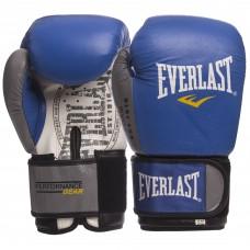 Перчатки боксерские кожаные на липучке EVERLAST EV-009B (р-р 10-14oz, цвета в ассортименте)