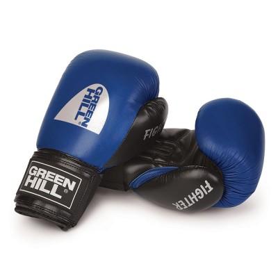 Купить Боксерские перчатки Green Hill FIGHTER синие