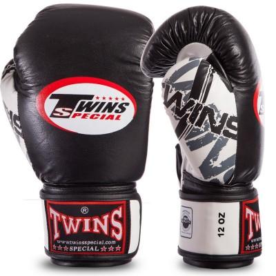 Купить Перчатки боксерские кожаные на липучке TWINS CLASSIC 0269