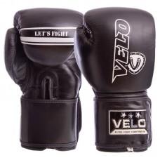 Перчатки боксерские кожаные на липучке VELO VL-8186