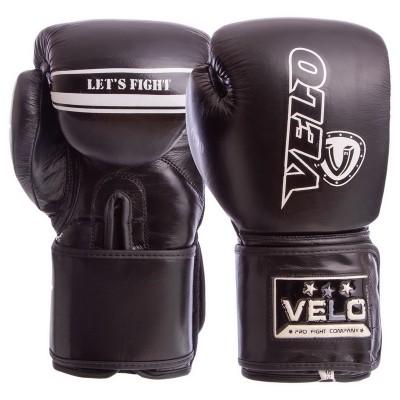Купить Перчатки боксерские кожаные на липучке VELO VL-8186