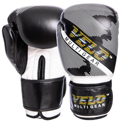Купить Перчатки боксерские кожаные VELO VL-2229 10-14 унций черный