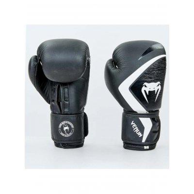 Купить tПерчатки боксерские кожаные на липучке VENUM CONTENDER