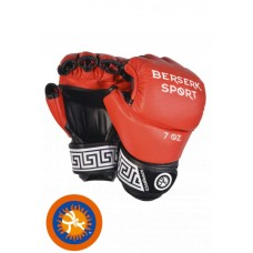 Перчатки Berserk Full for Pankration approved UWW 7 oz red кожанные