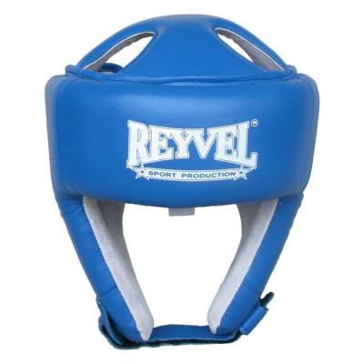 Купить Шлем боксерский REYVEL кожа синий тип 2