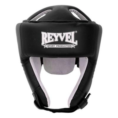 Купить Шлем боксёрский REYVEL винил чёрный тип 2