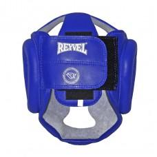 Боксерский шлем REYVEL Тренировочный кожа синий