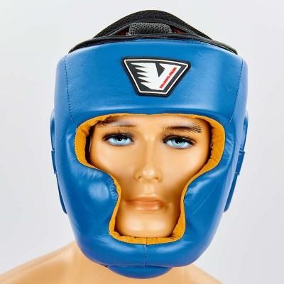 Купить Шлем боксерский с полной защитой кожаный VELO VL-8193-B