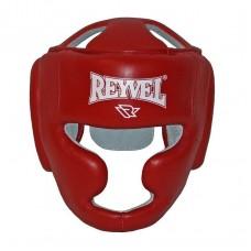 Боксерский шлем REYVEL Тренировочный кожа красный