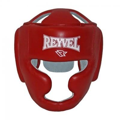Купить Боксерский шлем REYVEL Тренировочный кожа красный