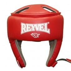 Шлем боксерский REYVEL винил красный тип 2