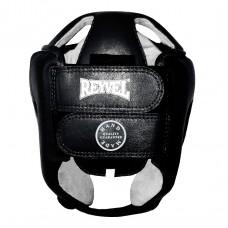 Боксерский шлем REYVEL Тренировочный кожа чёрный