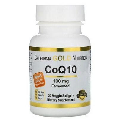 Купить Витамины коэнзим Q10 California Gold Nutrition CoQ10 100 mg (30 капсул.)