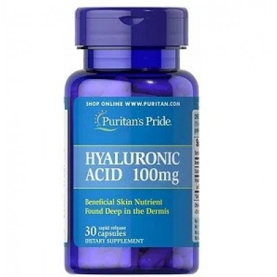 Купить Гиалуроновая кислота Puritan's Pride Hyaluronic Acid 100 mg (30 капсул.)