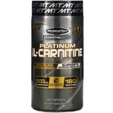 Л-Карнитин Muscletech Essential Series Platinum 100% L-Carnitine 500 mg (180 капсул.)