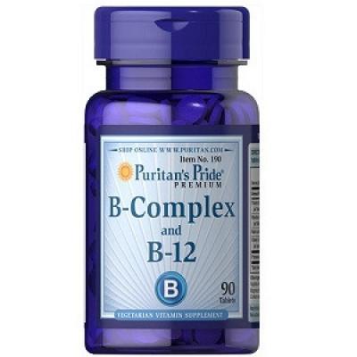Купить Витамины Puritan's Pride Vitamin B-Complex and Vitamin B-12 (90 таблеток.)
