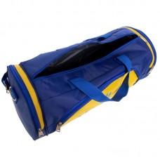 Сумка для спортзала Бочонок Украина GA-016-U (полиэстер, р-р 55х28х28см, синий-желтый)