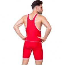 Трико для борьбы и тяжелой атлетики, пауэрлифтинга ASICS CO-7045-BL синий, красный
