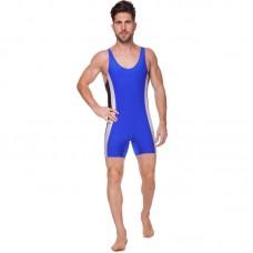 Трико для борьбы и тяжелой атлетики Zelart UR RG-4262-B синий бифлекс