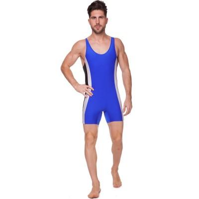 Купить Трико для борьбы и тяжелой атлетики Zelart UR RG-4262-B синий бифлекс