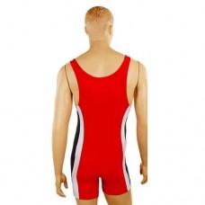Трико для борьбы и тяжелой атлетики Zelart UR RG-4262-R красный бифлекс